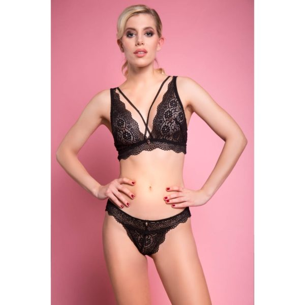 Escora Luxus Dessous Set MC16 Annabell: Panty & Triangel BH